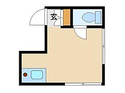 東京都北区滝野川2丁目の賃貸アパートの間取り