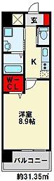 ZEGUNA(ゼグナ) 10階1Kの間取り