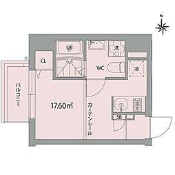 グランアセット秋葉原 7階ワンルームの間取り