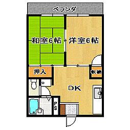 シティハイツKOIWA[202号室]の間取り