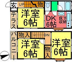 [テラスハウス] 東京都江戸川区松島3丁目 の賃貸【/】の間取り