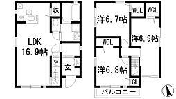 [一戸建] 兵庫県西宮市段上町6丁目 の賃貸【/】の間取り