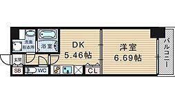KWレジデンス九条I[801号室]の間取り