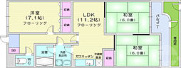 JR仙山線 葛岡駅 徒歩1分の賃貸マンション 1階3LDKの間取り