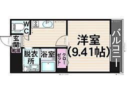 プレジールカヤシマ弐番館[206号室]の間取り