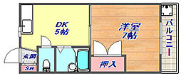 フローラルコーポ[2階]の間取り
