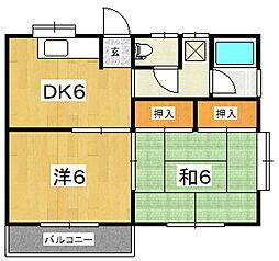 浅倉アパート[201号室号室]の間取り