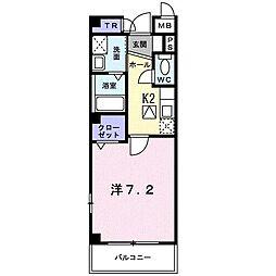 東京都練馬区中村3丁目の賃貸マンションの間取り