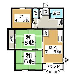コーポ菊地[2階]の間取り