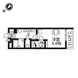 JR東海道・山陽本線 膳所駅 徒歩18分の賃貸マンション 3階1Kの間取り
