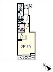 パルファ有松[1階]の間取り