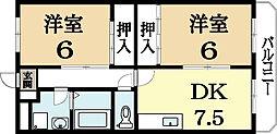 久御山ファーストマンション[1階]の間取り