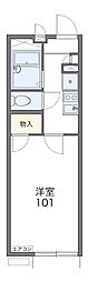 近鉄長野線 河内長野駅 徒歩12分の賃貸アパート 1階1Kの間取り