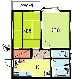 メゾンT[2階]の間取り