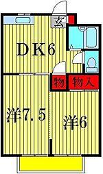 SHIINA CITY HEIGHTS A[2階]の間取り