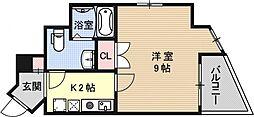 エスポワール椥辻[701号室号室]の間取り