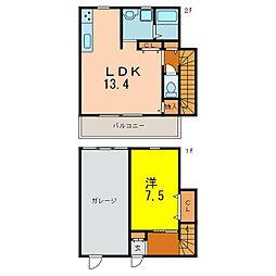 [テラスハウス] 愛知県刈谷市熊野町4丁目 の賃貸【/】の間取り