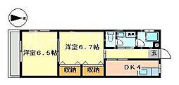 コーポ垂水[2階]の間取り