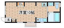 兵庫県神戸市須磨区月見山本町1丁目の賃貸アパートの間取り