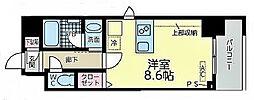 JR東海道本線 尾頭橋駅 徒歩8分の賃貸マンション 9階ワンルームの間取り