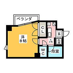 アドバンス竹越[7階]の間取り