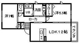 シャーメゾン和泉大宮[1階]の間取り