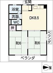 リアナ三塚一番館[4階]の間取り