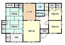 リフォーム済5DK和室2室、洋室2室リビングとダイニングになります。