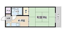 西浦マンション[35号室号室]の間取り