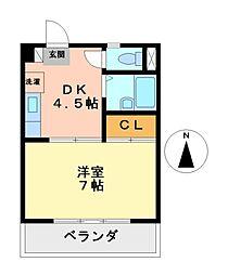 愛知県名古屋市中村区若宮町4丁目の賃貸マンションの間取り