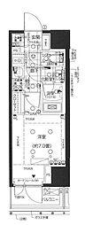 東京メトロ南北線 白金高輪駅 徒歩5分の賃貸マンション 6階1Kの間取り