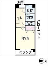 Blue Wing鯉江本町[1階]の間取り