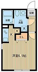 ZESTY幡ヶ谷[0204号室]の間取り