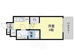 Osaka Metro長堀鶴見緑地線 京橋駅 徒歩11分の賃貸マンション 9階1Kの間取り