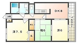 ベルヴィルA[2階]の間取り