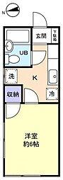 ヴィラ薬円台[2階]の間取り