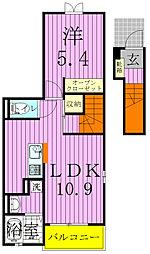 アルカディアIII[201号室]の間取り