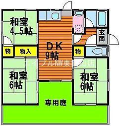 [一戸建] 岡山県岡山市中区長岡丁目なし の賃貸【/】の間取り