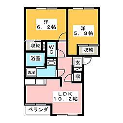 ロイヤル木の家[1階]の間取り