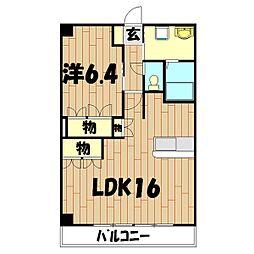 パルティール横濱[2階]の間取り