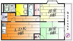 クレールミシマ[3階]の間取り
