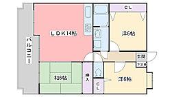 福岡県福岡市西区今宿東2丁目の賃貸マンションの間取り