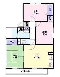 千葉県八千代市萱田町の賃貸アパートの間取り