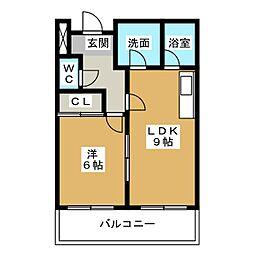 Limpia垂木[3階]の間取り