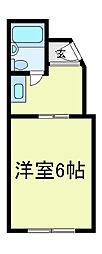チュリス西田辺[5階]の間取り
