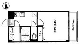 岡山電気軌道清輝橋線 清輝橋駅 徒歩25分の賃貸マンション 2階1Kの間取り