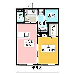 静岡県浜松市中区元魚町の賃貸アパートの間取り
