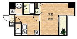 大阪府大阪市中央区内淡路町1丁目の賃貸マンションの間取り