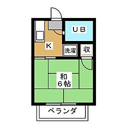 シティハイム常盤井[2階]の間取り