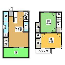 [テラスハウス] 岐阜県各務原市那加長塚町3丁目 の賃貸【/】の間取り